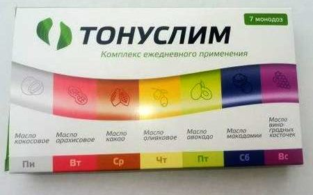 Лицевая сторона упаковки средства Тонуслим.